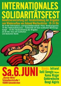 Solidaritätsfest Kobane Plakat